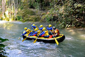 Rafting in Umbria — Stock Photo