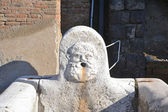 Close-up of Neptunes Fountain in Ercolano excavations — Stock Photo
