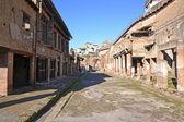 Decumano Massimo street in Ercolano excavations — Stock Photo