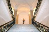 Stairway inside Museum of Capodimonte — Stock Photo