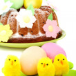Easter cake decorated with flowers. — Stock Photo #9875106