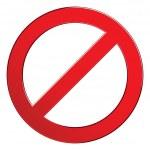 Постер, плакат: Sign forbidden