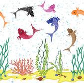Fish bone background — Stock Vector