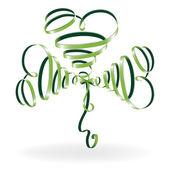 Abstract shamrock with ribbon — Stock Vector