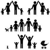 Rodinné ikony. — Stock vektor