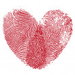 Lip print heart — Stockvectorbeeld