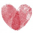 Lip print heart — Image vectorielle