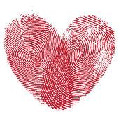 Lip afdrukken hart — Stockvector
