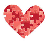 Heart puzzle. Love background. — Stock Vector