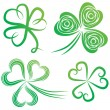 Set of shamrocks. - Stock vektor