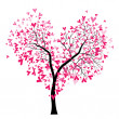 Valentine tree — Stock Vector