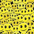 Smile face seamless pattern background - Imagen vectorial