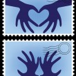 Postage stamp vector — Stockvektor #9645518