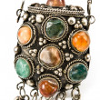Stock Photo: Antique snuffbox with gems i