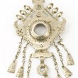 Antique silver brooch from India — Stock Photo