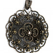 Black metal pendant - Foto Stock
