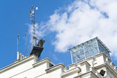 Meteorological devices on roof — Stock Photo