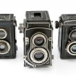 Three Vintage two lens photo camera - Stock Photo
