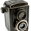 Vintage two lens photo camera — Stock Photo