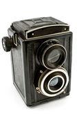 Vintage two lens photo camera — Stock Photo