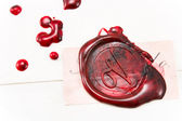 Wax seal on a letter — Stock Photo