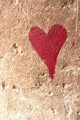 Red heart graffiti — Stock Photo
