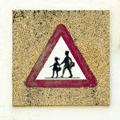 School sign — Stock Photo