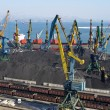 Stock Photo: Coal loading on vessel