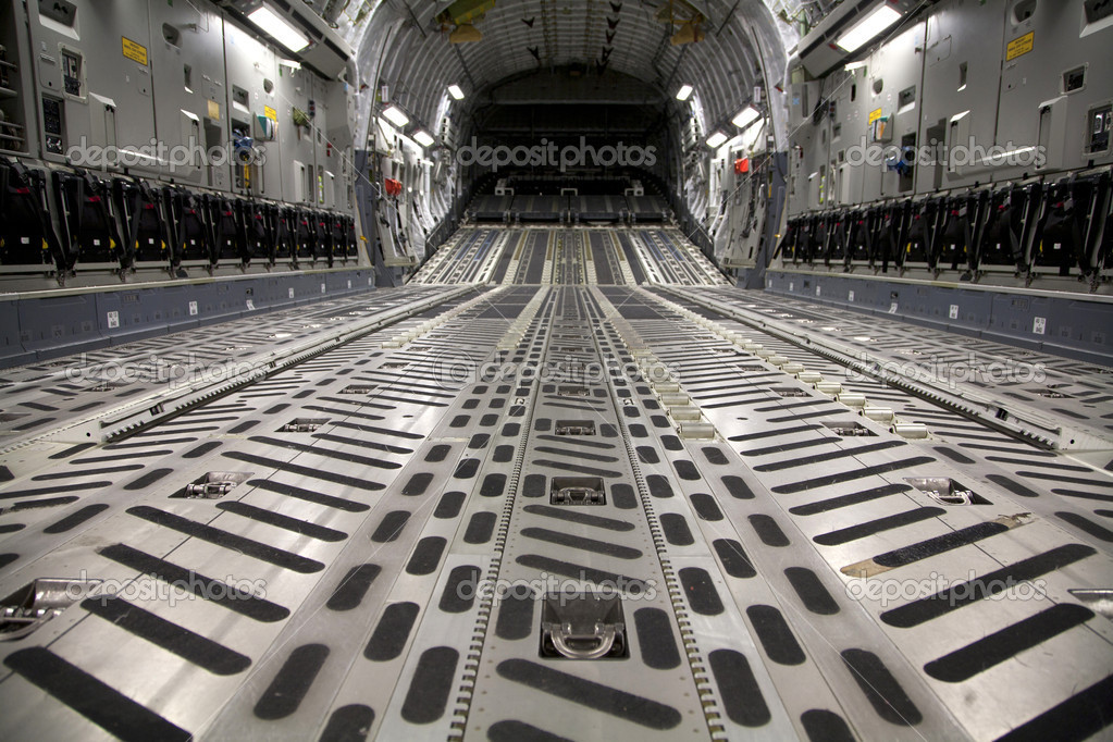 Inside a C17 Aircraft from Gary Airport