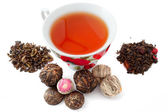 Tea and various tea — Stock Photo