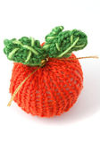 Knitted apple — Stock Photo