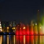 New Year's city — Stock Photo