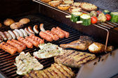 Meat on BBQ — Stockfoto