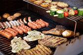 Carne sul barbecue — Foto Stock