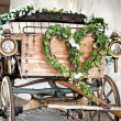 Stock Photo: Wooden wedding carriage
