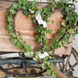 Wooden wedding carriage — Stockfoto