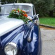 Detail of a wedding oldtimer car — Stock Photo