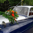 Stock Photo: Wedding oldtimer car