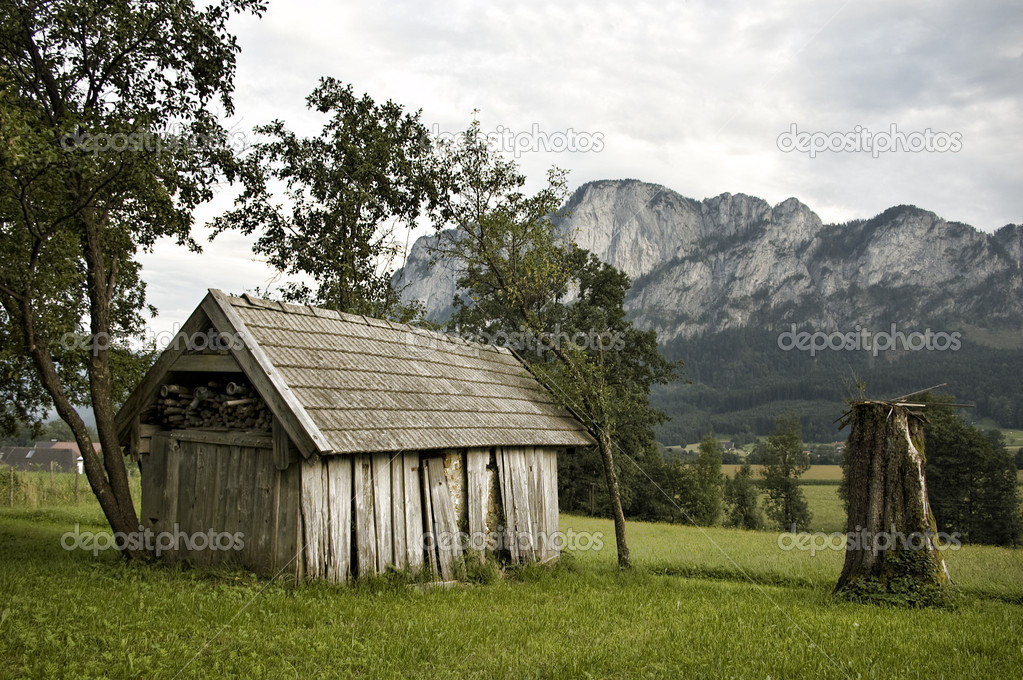 Derelict Barn in the Austrian Alps — Stock Photo #8535100