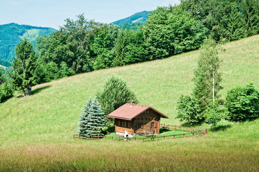 Small hut in the austrian alps stock photo tepic 8582034 for Small hut plans
