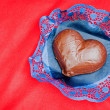 Valentines day chocolate cake — Stockfoto