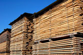 Lumber tiles — Stock Photo