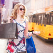 Stock Photo: Shopping Womin City