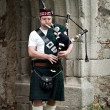 Man playing Bagpipe — Stock Photo