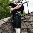 Scottish Bagpiper — Foto Stock