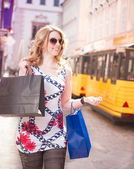 Shopping Woman in the City — Stock Photo