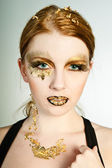 Golden Face — Stock Photo