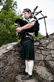Scottish Bagpiper — Stock Photo