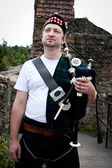 Proud Bagpiper — Stock Photo