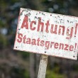 Stock Photo: Achtung Staatsgrenze